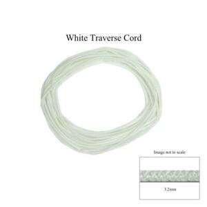 30 FEET (10 yds) 3.2mm White STANDARD TRAVERSE ROD CORD String