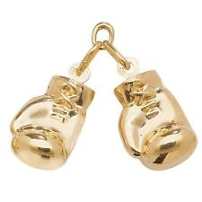 Pair of Large 9ct Yellow Gold Hollow Boxing Glove Charms Hallmarked 3.1g 18x12mm