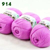 Sale 3Skeins x50g Soft Acrylic Cashmere Wool Stoles Hand Knit Crochet Yarn 14