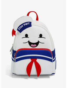 Ghostbusters Stay Puft Cosplay Mini Backpack by Loungefly - New, With Tags