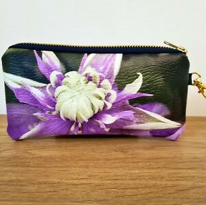 Glasses Case Pouch Faux Leather Floral Handmade Flat Bag Ladies Sunglasses Vegan