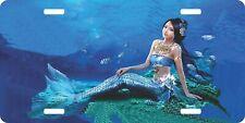 Sexy Mermaid Mädchen Fantasy Auto Boot Verführerin Lizenz Platte Auto Truck Tag