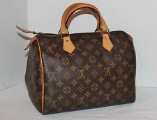 Authentic LOUIS VUITTON Monogram Canvas Speedy 30 Boston Bag Satchel Purse