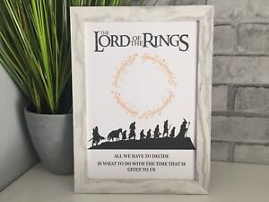 Lord Of The Rings Movie Quote Film art picture poster decor Wall Word Gift
