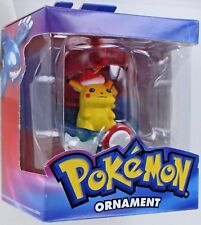 Pokemon PIKACHU Christmas Ornament Poke Ball 2005 Retired Anime Yellow NEW MIB