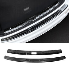 For Audi Q3 2019 2020 Inner+Outer Rear Bumper Protector Plate Cover Trim 2pcs