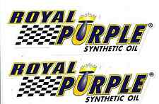 """2 Royal Purple Oil Racing Decals Sticker New Small 3"""" Size NHRA Race Decal"""