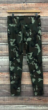 VOGO CAMOUFLAGE WOMENS CROPPED LEGGINGS ARMY GREEN CAMO STRETCH PANTS M