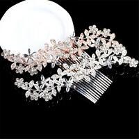 Bling Crystal Rhinestone Comb Bridal Headpiece Bride Barrette Hair Comb/Clip