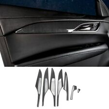 7pc Carbon fiber Style Door Handle Armrest Cover Trim For Cadillac ATS-L 2014-18