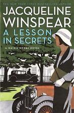 Jacqueline Winspear~ A LESSON IN SECRETS~ SIGNED 1ST(4)/DJ~ NICE COPY