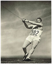1936 German Olympic Games Karl Hein Hammer Throw Riefenstahl Photo Gravure Print