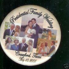 Presidential Family WEDDING pin Jenna Bush 2008
