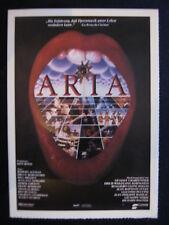 Filmplakatkarte cinema  Aria   John Hurt, Theresa Russell, Stephanie Lane