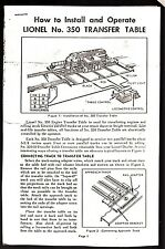 [43943] SET OF THREE REPRODUCTIONS of 1950's LIONEL INSTALLATION INSTRUCTIONS