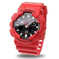 Casio G Shock Analog Digital Red Men's Watch GA-100B-4 Crazy Color limited NEW
