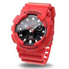 Casio G Shock Analog Digital Red Men's Watch GA-100B-4 Crazy Color limited NEW