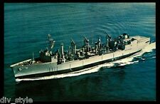 USS Kalamazoo AOR-6 postcard  US Navy ship Replenishment Fleet Oiler