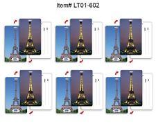 Eiffel Tower Paris Luggage Bag Travel Tag SETof6 Flip Lenticular #LT01-602#
