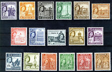 MALTA 1956-57 DEFINITIVES SG266/282 MNH
