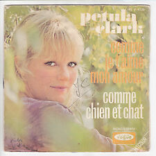 """Petula CLARK Vinyl 45T SP 7"""" COMME JE T'AIME MON AMOUR - CHIEN ET CHAT 4125 RARE"""