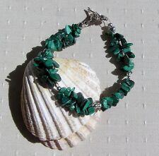 """Green Malachite Crystal Gemstone Chakra Bracelet """"Woodland Magic"""""""