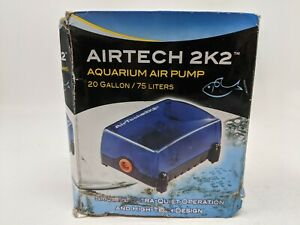 Penn-Plax Air Tech 2K2 Aquarium Air Pump 20 gal 75l