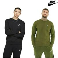 Nike Mens Tracksuit Pants Crew Sweat shirt Top Fleece Joggers Training  Club