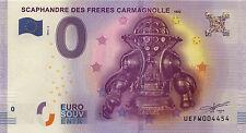 75016 PARIS SCAPHANDRE ZERO EURO SOUVENIR 2016 BANKNOTE EURO SCHEIN BANK NOTE