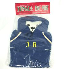 Vintage Nos 1986 Costume Jingle Bear Blue Hoodie Plush 80s Outfit Clothing New