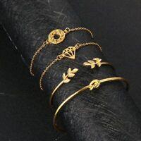 Lot de bracelets BOHÈME CHIC romantique diamond 4 pièces doré neuf pour femme