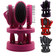 New 5Pcs Ladies Unisex Mirror Hair Brush Comb Set Women Travel Gift Blister Pack