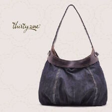 NEW Thirty one Fitted City Skirt Purse Hobo Hand Tote bag in Denim 31 gift