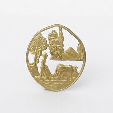 Haile Selassie environment protect your land Rasta pin medal Ethiopia lion of Ju