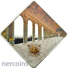 Palau 2013 Versailles Hall of Mirrors 50g Silver $10 Proof Coin Mixed Finish