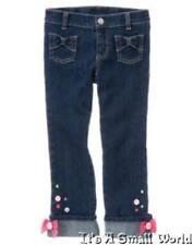 Gymboree Equestrian Club Gem Button Bow Cuff Jean Pant Size 10 NWT
