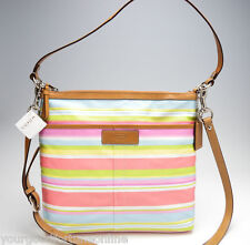 NWT COACH Convertible Beach Stripe File CROSSBODY SWINGPACK Shoulder 13719 Pink