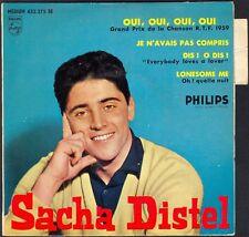 SACHA DISTEL  OUI OUI OUI OUI 45T EP BIEM PHILIPS 432.375 QUASI NEUF + LANGUETTE