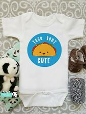 Funny Baby Onesie -Taco Bout Cute - Funny Mexican Taco Baby Onesie Shower Gift