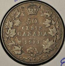 Canada 1911 50 Cent Piece - Damage - Collector's Grade
