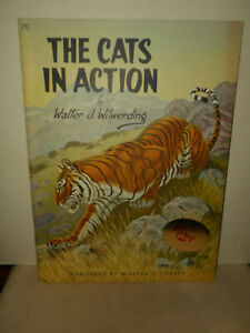 Vintage Walter T. Foster How to Draw Book The Cats in Action #70 W. Wilwerding
