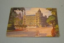 Vintage 1920's Park Hotel Koblenz Germany Color Advertising Card Travel Souvenir