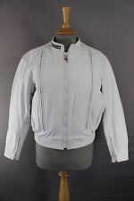 FIELDSHEER WHITE LEATHER BIKER JACKET + DETACHABLE QUILTED THERMAL LINING SIZE12