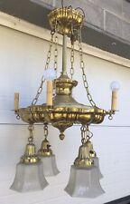 Victorian Brass Chandelier