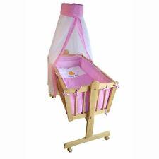 Komplette Babywiege Bett Stubenwagen Schaukelwiege Wiege rosa NEU OVP