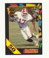 1991 Wild Card Football 50 Stripe Set Break #135 Darrell Malone