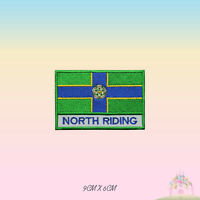NORTH RIDING UK County Flag With Name Embroidered Iron On Patch Sew On Badge