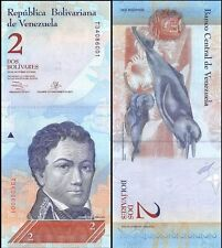 VENEZUELA 🇻🇪 2 Bolivares Banknote, 2013, P-88f, UNC World Currency
