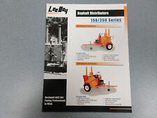 Leeboy 150 & 250 Asphalt Distributors Color Sales Sheet 2 Pages