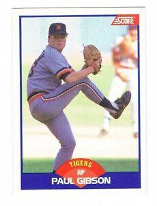OMG! Paul Gibson Grabbing Crotch 1989 Score Error Baseball Card #595 ⚾